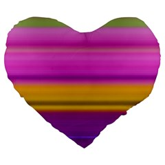 Stripes Colorful Background Colorful Pink Red Purple Green Yellow Striped Wallpaper Large 19  Premium Flano Heart Shape Cushions