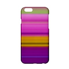 Stripes Colorful Background Colorful Pink Red Purple Green Yellow Striped Wallpaper Apple iPhone 6/6S Hardshell Case