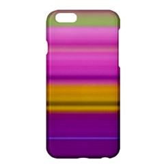 Stripes Colorful Background Colorful Pink Red Purple Green Yellow Striped Wallpaper Apple iPhone 6 Plus/6S Plus Hardshell Case