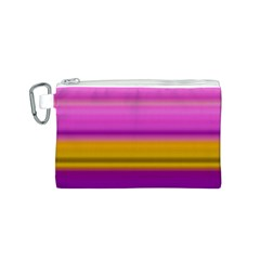 Stripes Colorful Background Colorful Pink Red Purple Green Yellow Striped Wallpaper Canvas Cosmetic Bag (s)