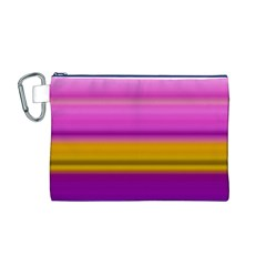 Stripes Colorful Background Colorful Pink Red Purple Green Yellow Striped Wallpaper Canvas Cosmetic Bag (m)