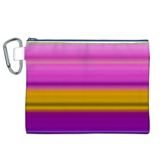 Stripes Colorful Background Colorful Pink Red Purple Green Yellow Striped Wallpaper Canvas Cosmetic Bag (xl)