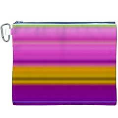 Stripes Colorful Background Colorful Pink Red Purple Green Yellow Striped Wallpaper Canvas Cosmetic Bag (xxxl)