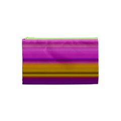 Stripes Colorful Background Colorful Pink Red Purple Green Yellow Striped Wallpaper Cosmetic Bag (XS)