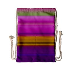 Stripes Colorful Background Colorful Pink Red Purple Green Yellow Striped Wallpaper Drawstring Bag (small)