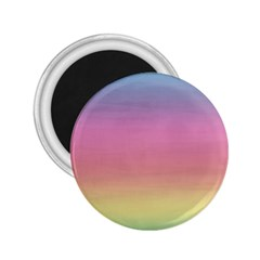 Watercolor Paper Rainbow Colors 2.25  Magnets
