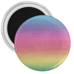 Watercolor Paper Rainbow Colors 3  Magnets