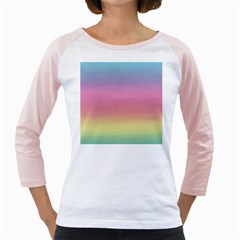 Watercolor Paper Rainbow Colors Girly Raglans