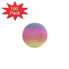 Watercolor Paper Rainbow Colors 1  Mini Magnets (100 Pack)