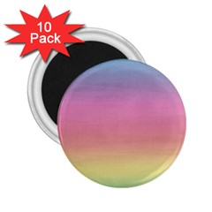 Watercolor Paper Rainbow Colors 2 25  Magnets (10 Pack)