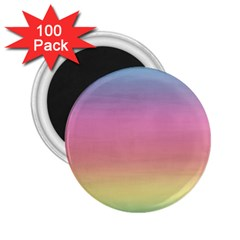 Watercolor Paper Rainbow Colors 2 25  Magnets (100 Pack)