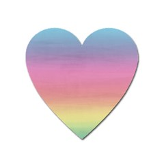 Watercolor Paper Rainbow Colors Heart Magnet