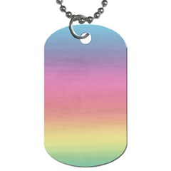Watercolor Paper Rainbow Colors Dog Tag (two Sides)