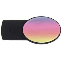 Watercolor Paper Rainbow Colors Usb Flash Drive Oval (2 Gb)