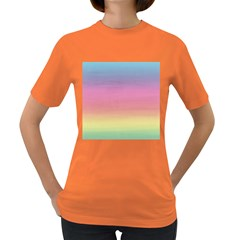 Watercolor Paper Rainbow Colors Women s Dark T-Shirt