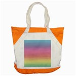Watercolor Paper Rainbow Colors Accent Tote Bag Front