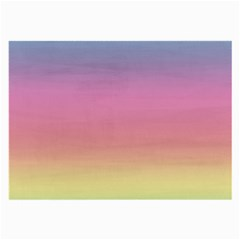 Watercolor Paper Rainbow Colors Large Glasses Cloth (2 Side)