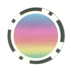 Watercolor Paper Rainbow Colors Poker Chip Card Guard (10 Pack)
