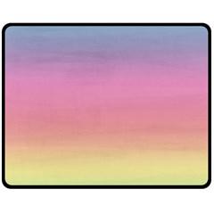 Watercolor Paper Rainbow Colors Fleece Blanket (medium)