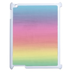 Watercolor Paper Rainbow Colors Apple iPad 2 Case (White)