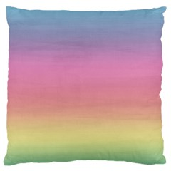Watercolor Paper Rainbow Colors Large Cushion Case (Two Sides)