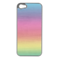 Watercolor Paper Rainbow Colors Apple iPhone 5 Case (Silver)
