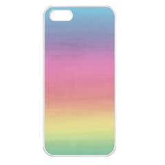 Watercolor Paper Rainbow Colors Apple iPhone 5 Seamless Case (White)