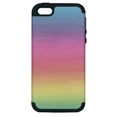 Watercolor Paper Rainbow Colors Apple iPhone 5 Hardshell Case (PC+Silicone)