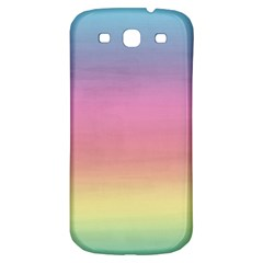 Watercolor Paper Rainbow Colors Samsung Galaxy S3 S III Classic Hardshell Back Case