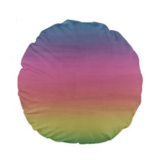 Watercolor Paper Rainbow Colors Standard 15  Premium Round Cushions
