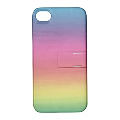 Watercolor Paper Rainbow Colors Apple Iphone 4/4s Hardshell Case With Stand