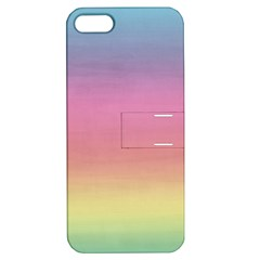 Watercolor Paper Rainbow Colors Apple iPhone 5 Hardshell Case with Stand