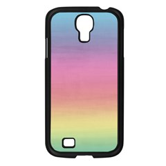 Watercolor Paper Rainbow Colors Samsung Galaxy S4 I9500/ I9505 Case (Black)
