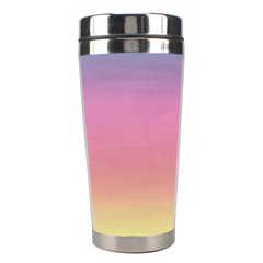 Watercolor Paper Rainbow Colors Stainless Steel Travel Tumblers