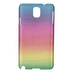 Watercolor Paper Rainbow Colors Samsung Galaxy Note 3 N9005 Hardshell Case