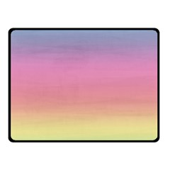Watercolor Paper Rainbow Colors Double Sided Fleece Blanket (Small)