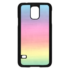 Watercolor Paper Rainbow Colors Samsung Galaxy S5 Case (Black)