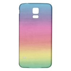 Watercolor Paper Rainbow Colors Samsung Galaxy S5 Back Case (White)