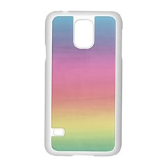 Watercolor Paper Rainbow Colors Samsung Galaxy S5 Case (White)