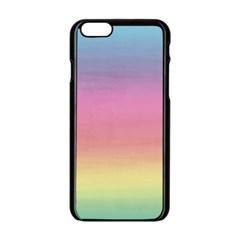 Watercolor Paper Rainbow Colors Apple iPhone 6/6S Black Enamel Case