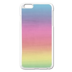 Watercolor Paper Rainbow Colors Apple iPhone 6 Plus/6S Plus Enamel White Case