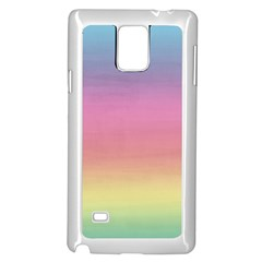 Watercolor Paper Rainbow Colors Samsung Galaxy Note 4 Case (white)