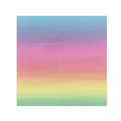 Watercolor Paper Rainbow Colors Small Satin Scarf (Square)