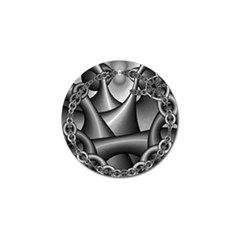 Grey Fractal Background With Chains Golf Ball Marker (4 pack)