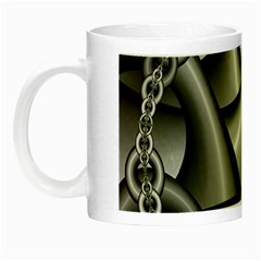 Grey Fractal Background With Chains Night Luminous Mugs