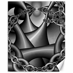 Grey Fractal Background With Chains Canvas 11  X 14
