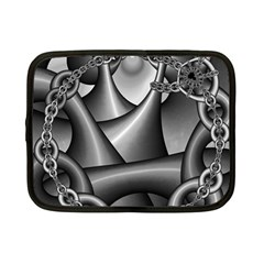 Grey Fractal Background With Chains Netbook Case (small)