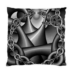 Grey Fractal Background With Chains Standard Cushion Case (one Side)