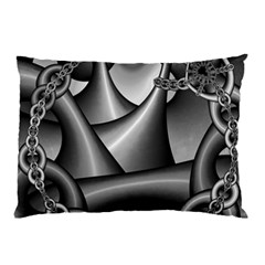 Grey Fractal Background With Chains Pillow Case