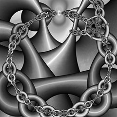 Grey Fractal Background With Chains Magic Photo Cubes